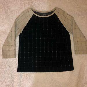 Ann Taylor Loft Black + White Sweater